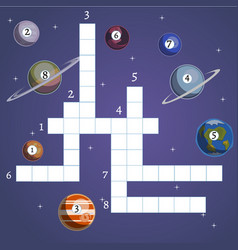 board game with planet and space vector image