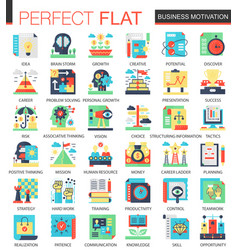 Business motivation complex flat icon vector