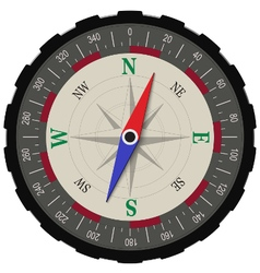 Classic compass in dark shades isolated vector image vector image