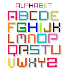Colorful Retro Alphabet ABC Simple Digital Set vector image vector image