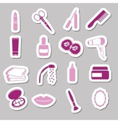 Cosmetics stickers vector