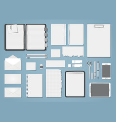 document template blank set vector image vector image