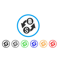 Dollar baht exchange rounded icon vector