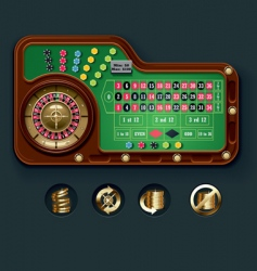 European roulette table layout vector