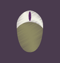 Flat shading style icon computer mouse vector