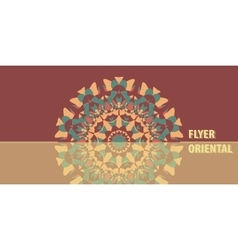 Flyer in Warm Color Abstract Retro Ornate Mandala vector image