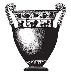 Greek vase is a idealized depictions of the vector
