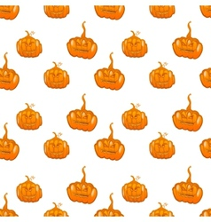 Halloween seamless pumpkin background vector image