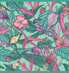 hawaiian pattern vector image