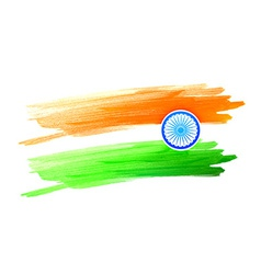 Indian flag design made with color color strokes vector