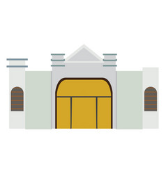 Isolated synagogue building vector