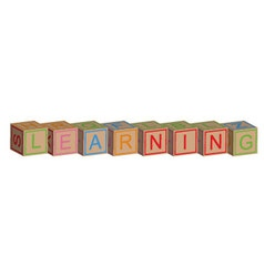 Learning with toy blocks vector image vector image