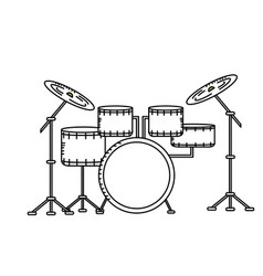 Line drums musical instrument to play music vector