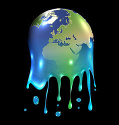 melting world vector image