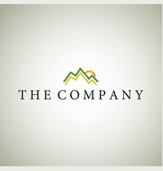 Mountainlogo ideas design vector