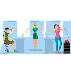 One more version of girls in the office vector