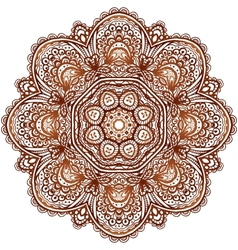 Ornate ethnic henna colors mandala vector