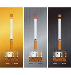 Pack cigarettes vector