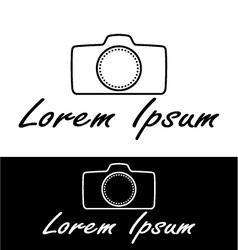 Photography camera icon vector image vector image