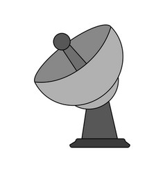 satellite antenna icon image vector image
