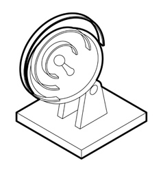 Satellite dish icon outline style vector