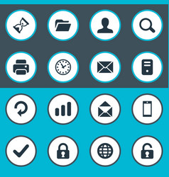 set of simple application vector image