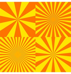 Sun ray background set vector