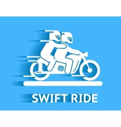 Swift ride vector image