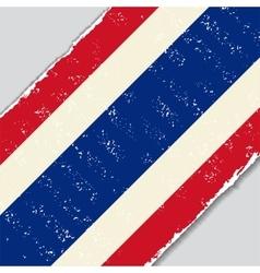 Thai grunge flag vector image