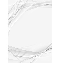 Transparent futuristic abstract swoosh border vector