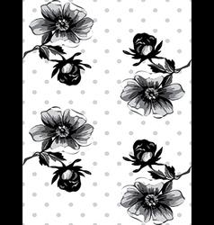 Vintage wallpaper seamless rose flower pattern vector image vector image