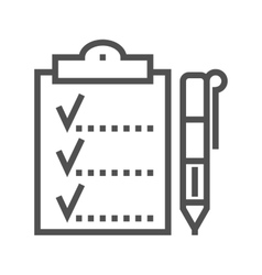 Planing line icon vector