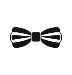 Bow tie icon simple style vector