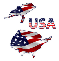usa map filled with flag vector image
