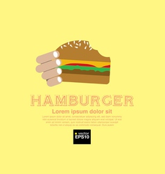 Hamburger eps10 vector