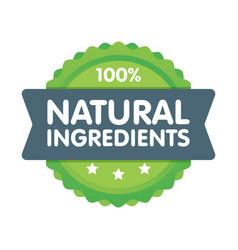 Modern green eco badge 100 percent natural vector