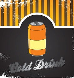 Cold drink vector