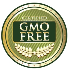 Gmo free green label vector