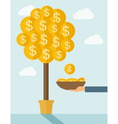 Money Growing on trees vector image