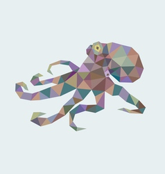Octopus low poly vector