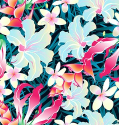 Colorful tropical seamless pattern vector