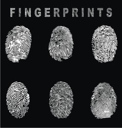White fingerprints vector