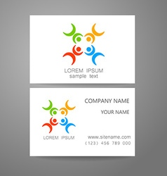 Connecting people logo template vector