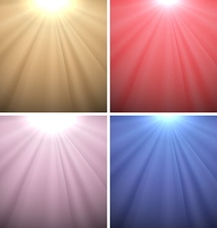 Set of light backgrounds vector