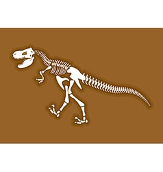 Dinosaur skeleton ancient animal bones in ground vector