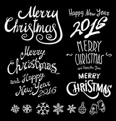 Vintage merry christmas and happy new year vector