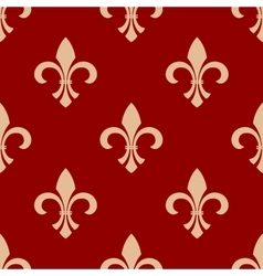 French floral royal seamless pattern vector