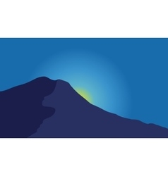 Silhouette of mountain vector