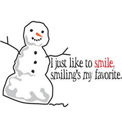 I Like To Smile vector image