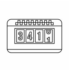 Taximeter icon outline style vector